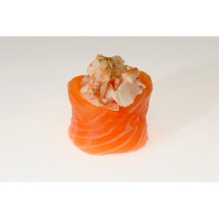 Special Gunkan salmone e gambero